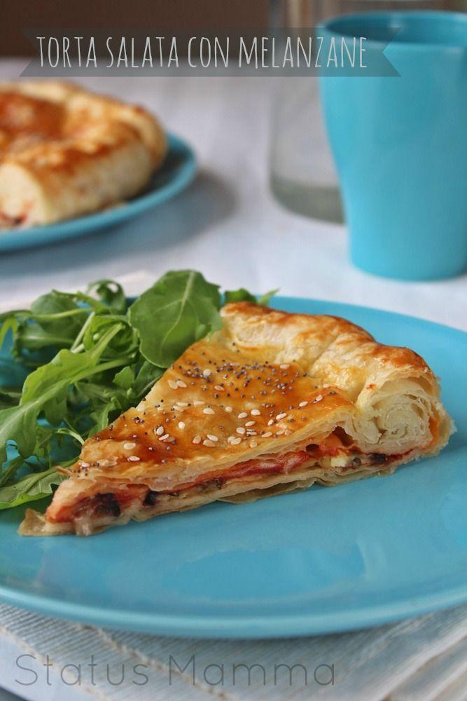 Torta salata con melanzane | Status mamma