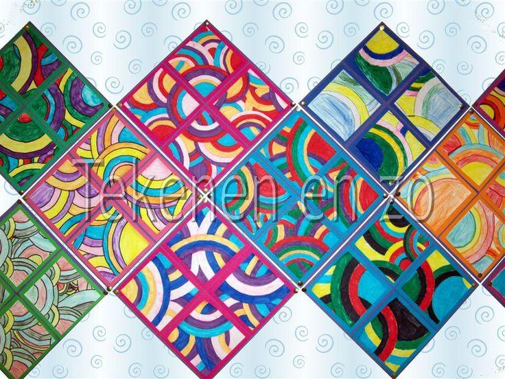 Door Charmaine, groep 7 Benodigdheden wit A4 tekenpapier vierkant gesneden 21 bij 21 cm viltstiften of kleurpotloden vouwblaadjes 12 bij 12 ...