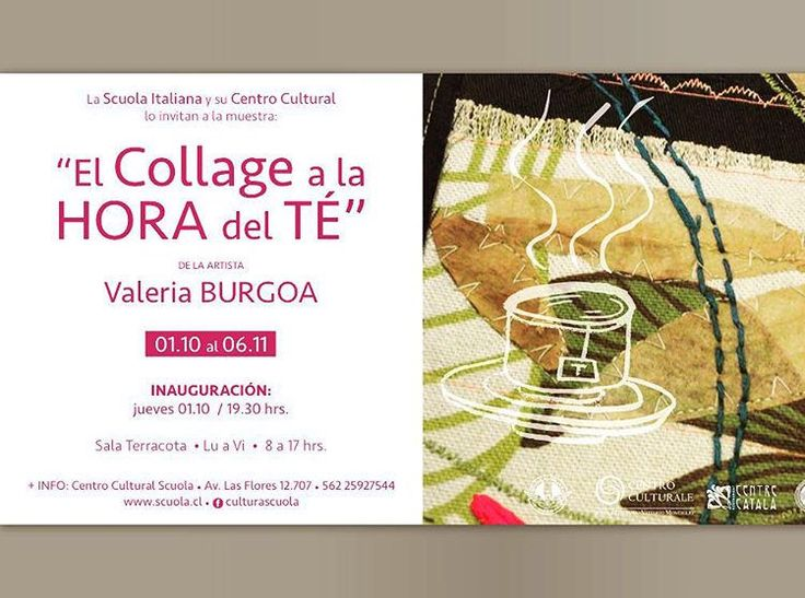 """El Collage a la Hora del Té"" @valeriaburgoav #exposición #scuolaitaliana #sancarlosdeapoquindo  #santiagodechile #art"