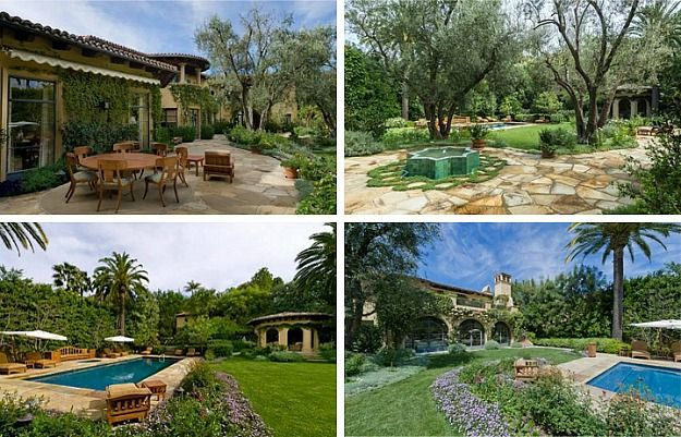 Christina Aguilera's new house-grounds
