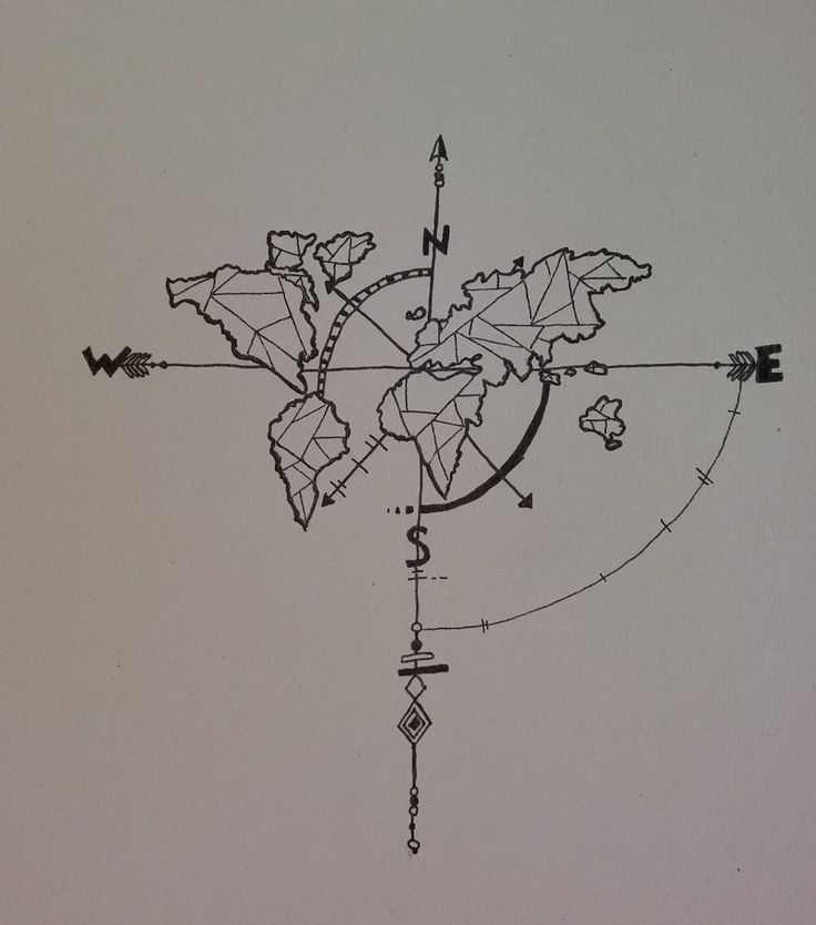 Tattoo Weltkarte Tattoo Kompass Tattoo Vorlage