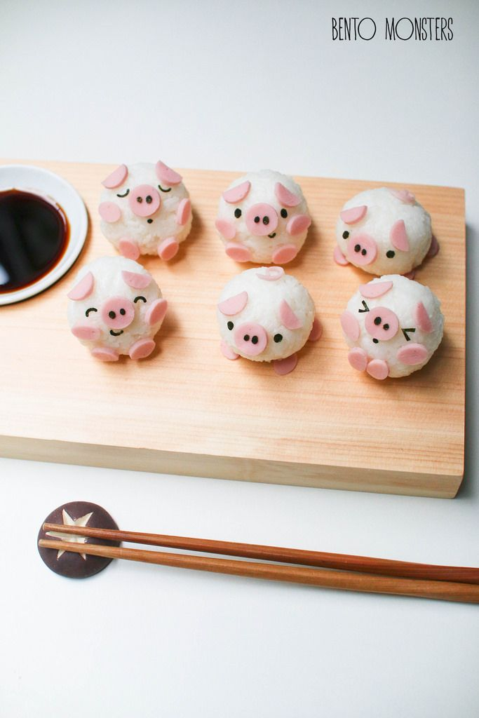 Little pig sushi by Bento Monsters
