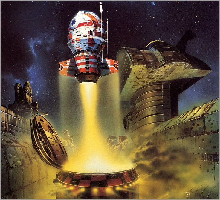 70s Sci Fi Art Chris Foss: 1940S Space Science Fiction Art