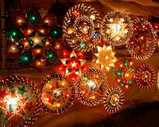 Parol is a traditional Filipino Christmas decoration, a five point  star-shaped Christmas lantern.