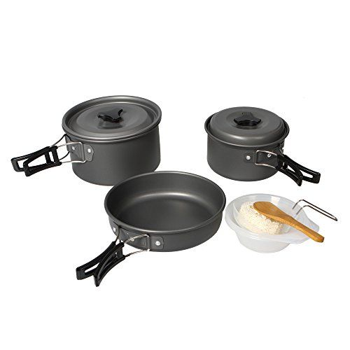 Introducing Docooler Portable Outdoor Anodised Aluminum Cookware Cooking Set Camping Cooker Pot Pan Bowl Pinic Equipment 23 people. Great product and follow us for more updates!