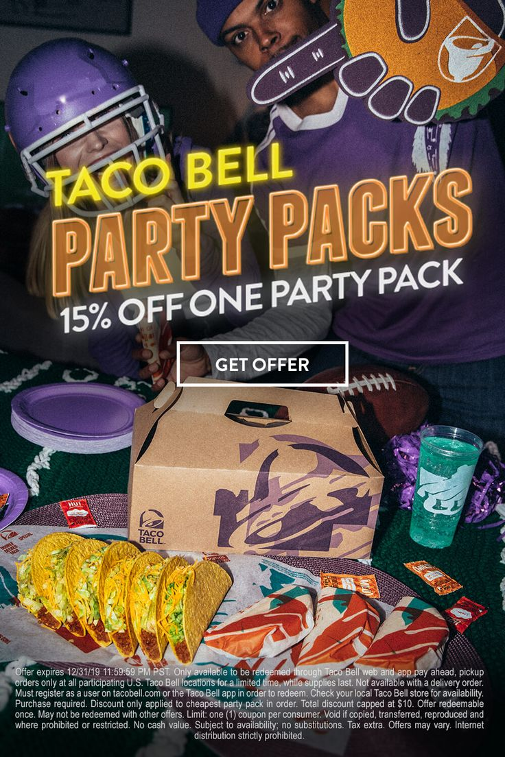 Grab your squad and get 15 off a party pack when you