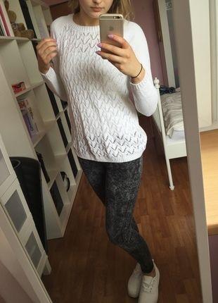 Kup mój przedmiot na #vintedpl http://www.vinted.pl/damska-odziez/swetry-z-dzianiny/10288993-sliczny-bialy-azurowy-sweterek-s