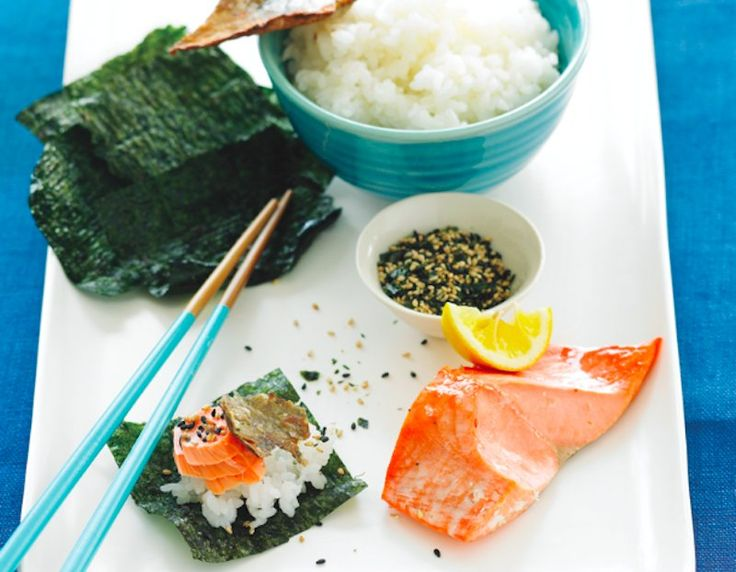 Salt-Grilled Fish: Salmon Shioyaki Recipe by foodrepublic: The technique creates salmon with an umami-rich crust and a crispy skin. #Fish #Salt_Grilled #Healthy