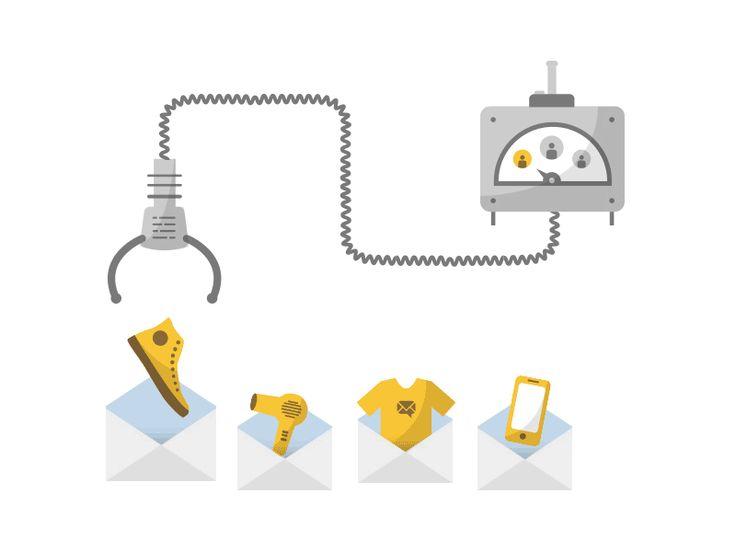 Trigger Mail machine illustrations