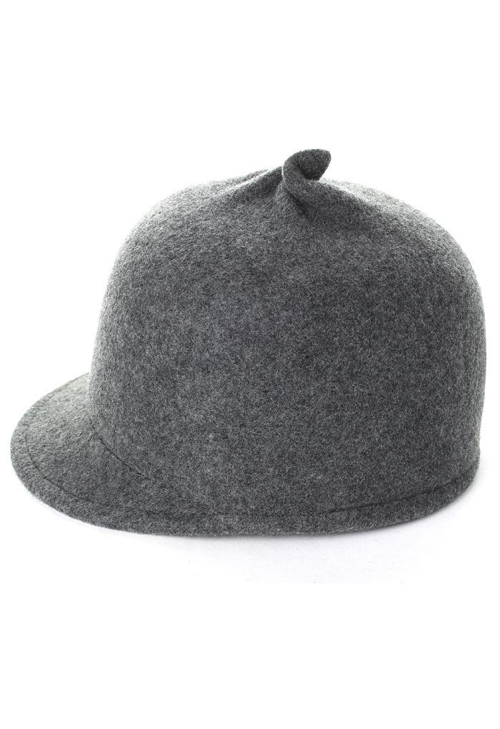 Grey Wool Blend Toyo Cap with Tweaked Top