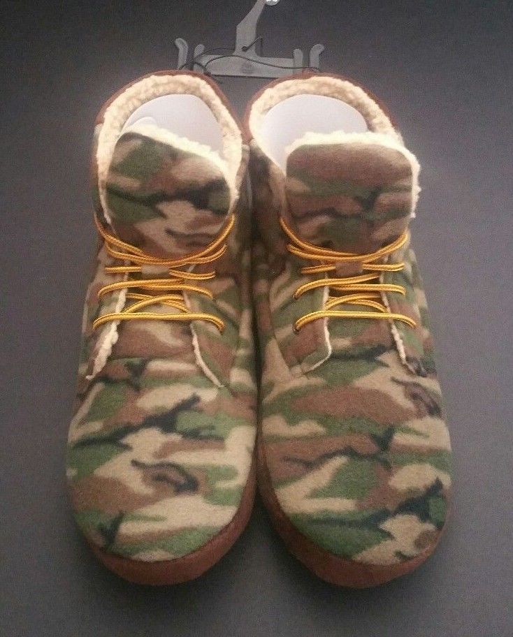 3a67591a4aa1b6 Real Tree High Top Camouflage Lace-Up Boot Slipper Men's Asorted Sizes L,  XL #Realtree #SlipperBoots