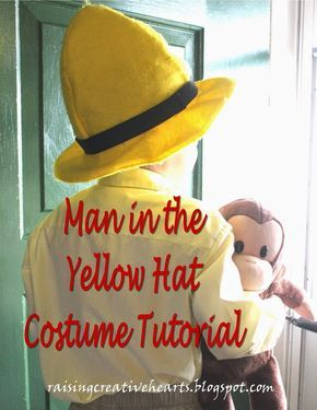 Raising Creative Hearts Free Pattern for Man in the Yellow Hat costume from Curious George