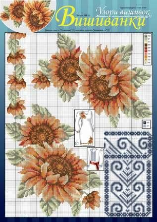 Floral patterns looks stunning when used to ornament various items of clothing.  Here are some great patterns and ideas. Source: http://dianaplus.eu/cross-stitch-patterns-embroidered-shirts-issue-1451-p-7056.html