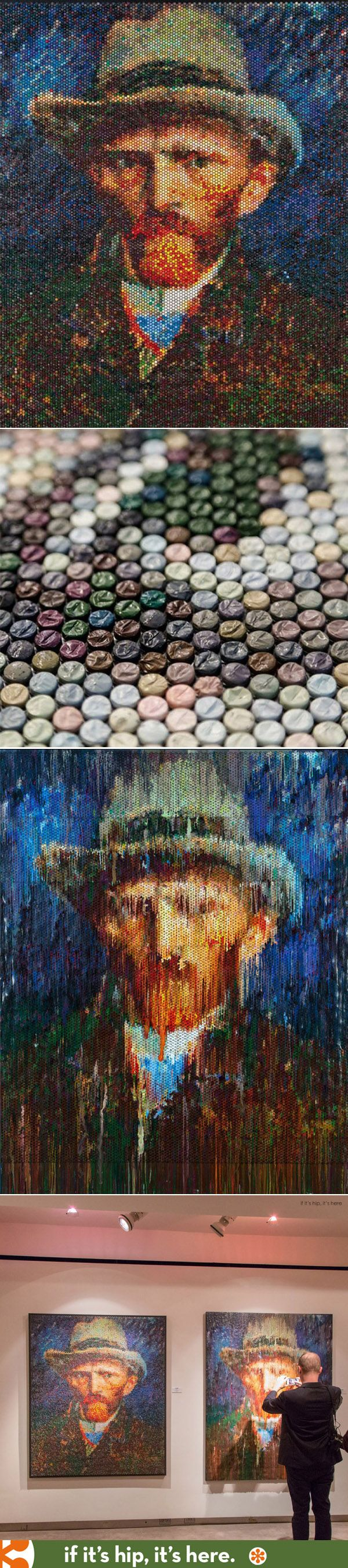 These are amazing.  Famous paintings recreated by injecting different colored paints into bubble wrap and companion pieces of the drippings from the plastic reveal an impression of the work.   http://www.ifitshipitshere.com/pop-go-masters-paint-injected-bubble-wrap-impressions/