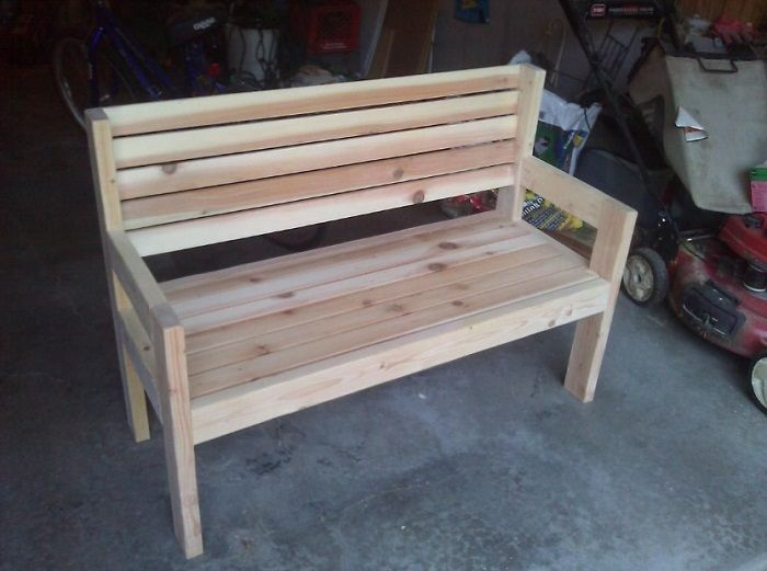 DIY Garden Seat Plans   Woodworking Session