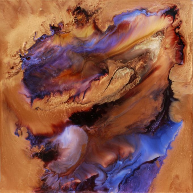 Lia Melia / Circe / powdered pigments and solvents baked onto aluminium or glass