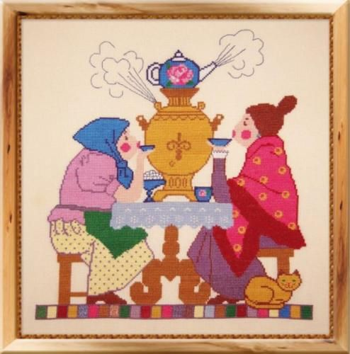 COUNTED CROSS STITCH KIT SAMOVAR    PRODUCT DETAILS: Article: 231 The size of the finished work: 33 x35 cm Technique Counted Cross Aida Canvas 14 Composition Cotton canvas Color Beige canvas The composition of cotton thread Driving character color The kit includes: Canvas, threads, needle, chart instructions Number of colors 14 The frame in kit is not included. Manufacturer: Oven (Russia)