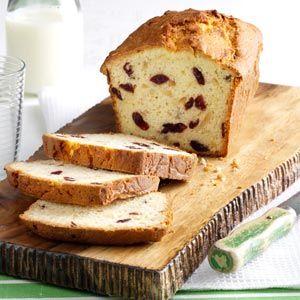 Almond & Cranberry Coconut Bread Recipe | Taste of Home Recipes