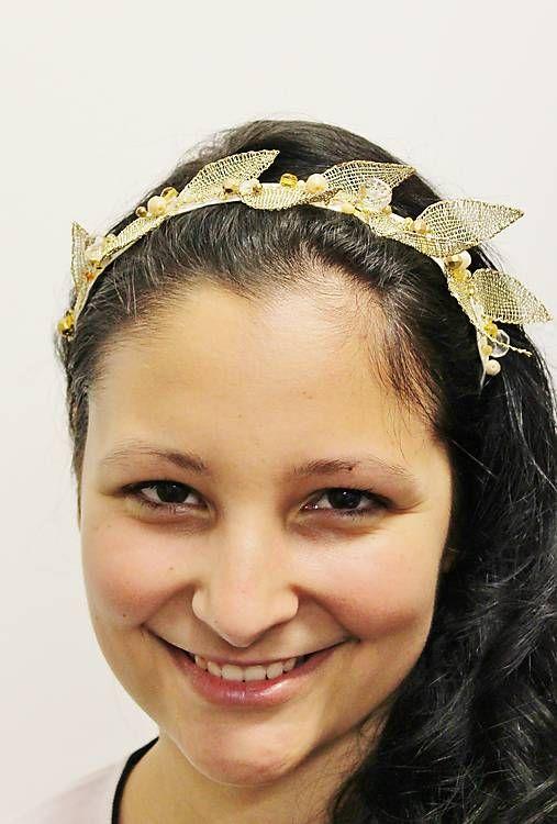 maramanufaktura / zlatá čelenka / kolekcia LEAVES