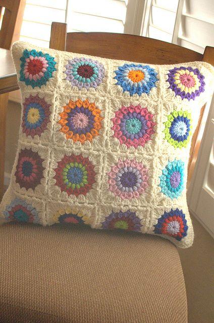 Sunburst Pillow by wzppd, via Flickr