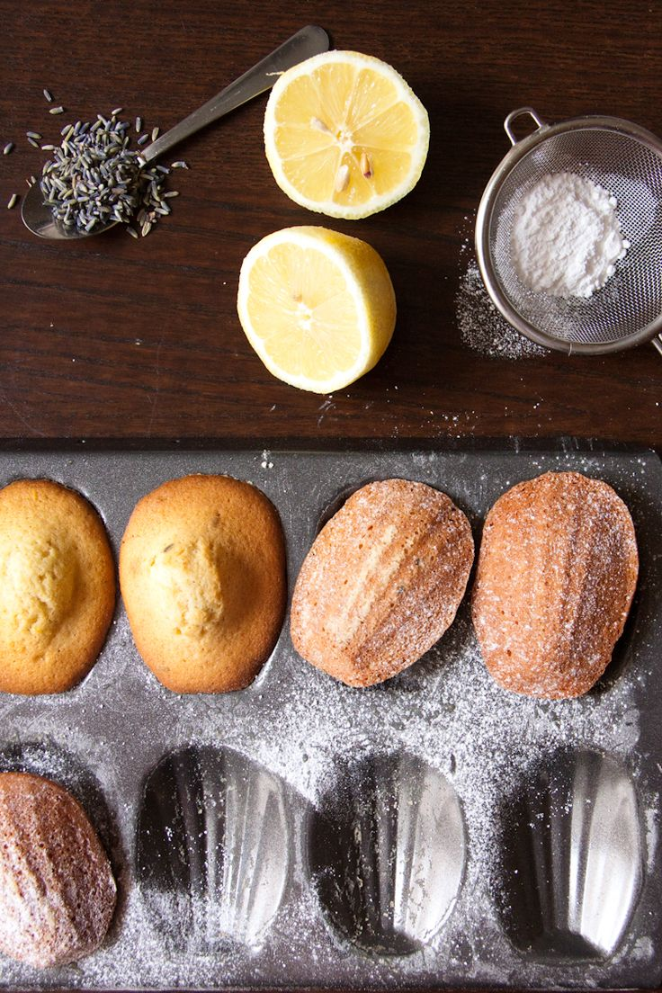 Lemon and Lavender Madeleines | A Girl & Her Home