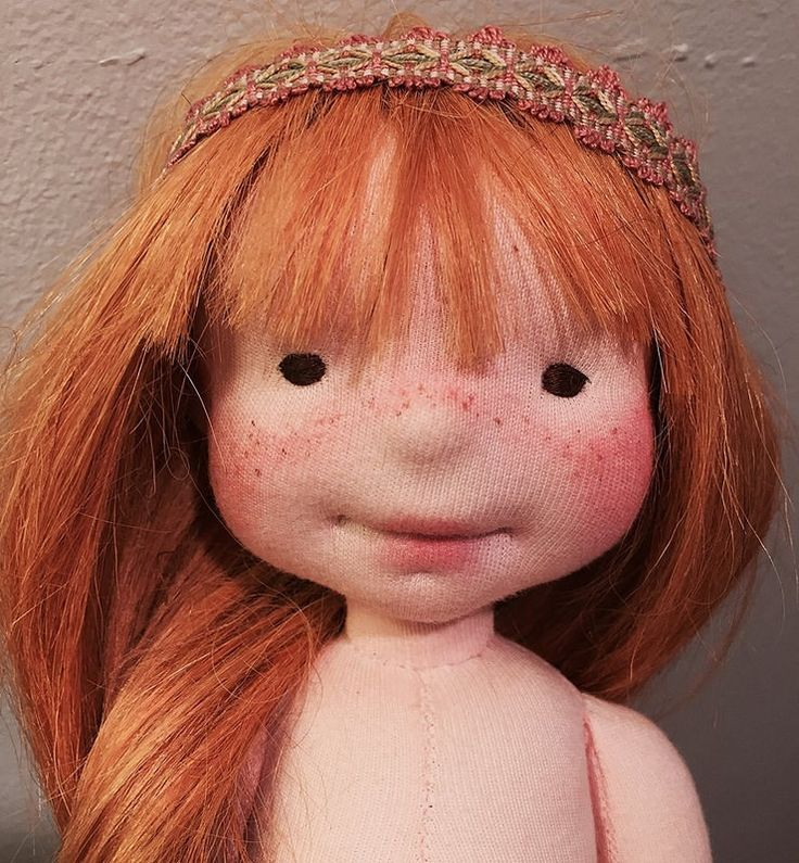 Fiona-OOAK natural fiber doll by Mon Petit Frère