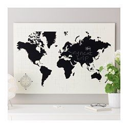 IKEA - MÖLLTORP, Chalkboard organizer, Motif created by Archie Stone.This world map is both a decorative picture and a handy blackboard for planning your next trip, for example.