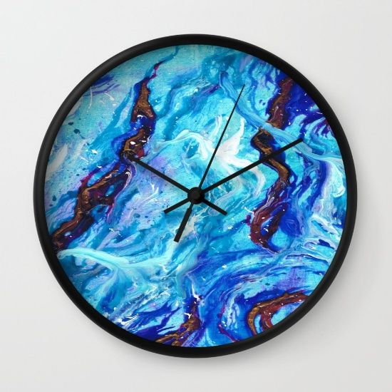 Buy Opal Ocean  Wall Clock by Monika Jean. Worldwide shipping available at Society6.com. Just one of millions of high quality products available.