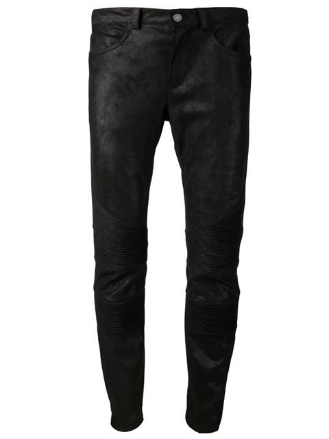 Shop Drome leather trousers in D'Aniello from the world's best independent boutiques at farfetch.com. Over 1000 designers from 60 boutiques in one website.