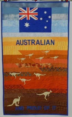Aussie Hero Quilts (and laundry bags) Not sure about making a flag, but background is easy and just need a template for the kangaroos