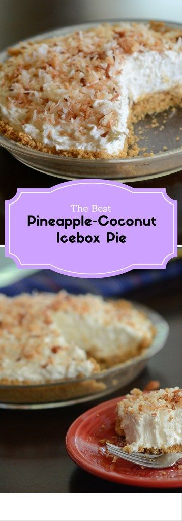 Pineapple-Coconut Icebox Pie - The Gifted Gabber
