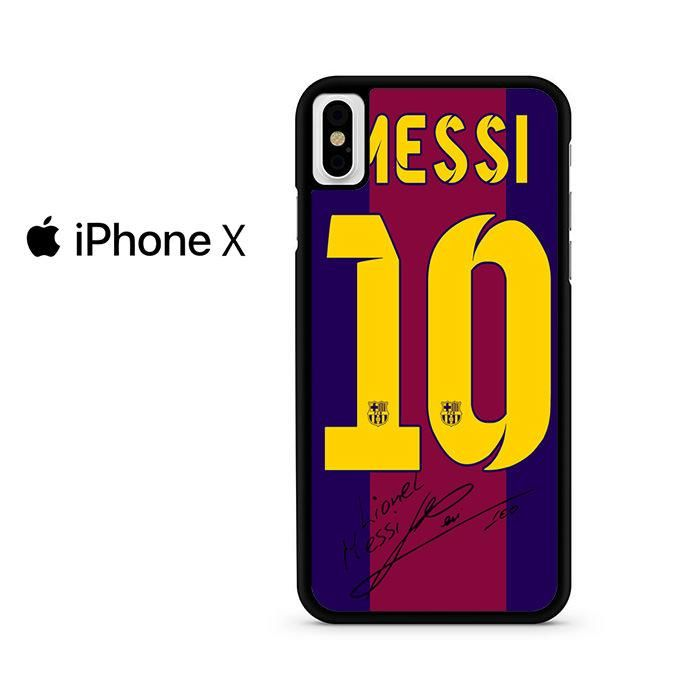 Lionel Messi Signature Barcelona Jersey For Iphone X