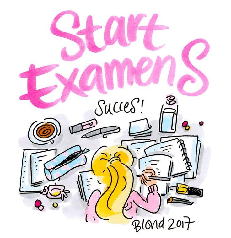 Start Examens, succes! By Blond-Amsterdam