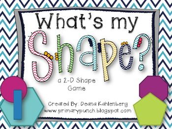 Here's a game played like Headbandz where students ask questions to guess the 2D shape on their heads!