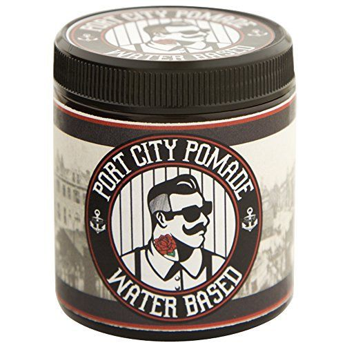 Port City Pomade Water Based Medium Hold Hair Styling Pomade for Men (4 ounce) - http://essential-organic.com/port-city-pomade-water-based-medium-hold-hair-styling-pomade-for-men-4-ounce/