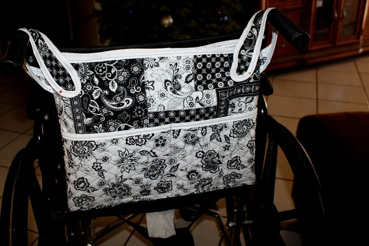 Wheelchair and walker hanging bag tutorial @ThreeUniqueRabbits