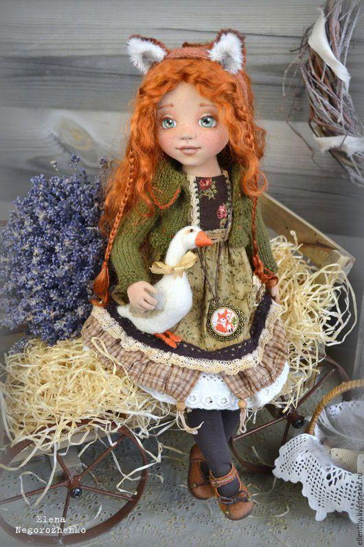 Коллекционные куклы ручной работы. Лизавета, текстильная кукла. Елена Негороженко куклы •Неженки•. Ярмарка Мастеров. Рыжий, деревенский стиль