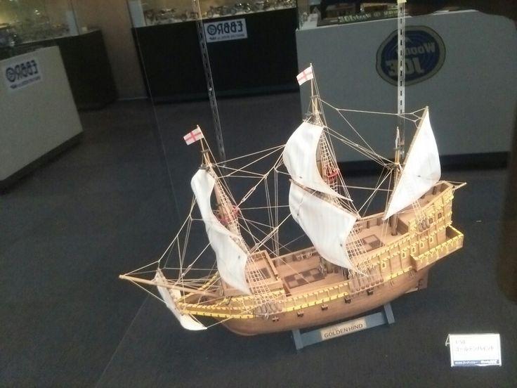 Wood model of the ship. @hobbysquare in Shizuoka