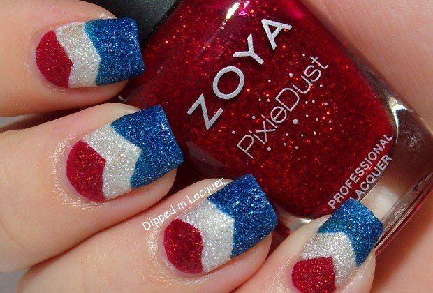 13 Patriotic Nail Art Ideas You Can Definitely DIY- love how they used textured polish lovely