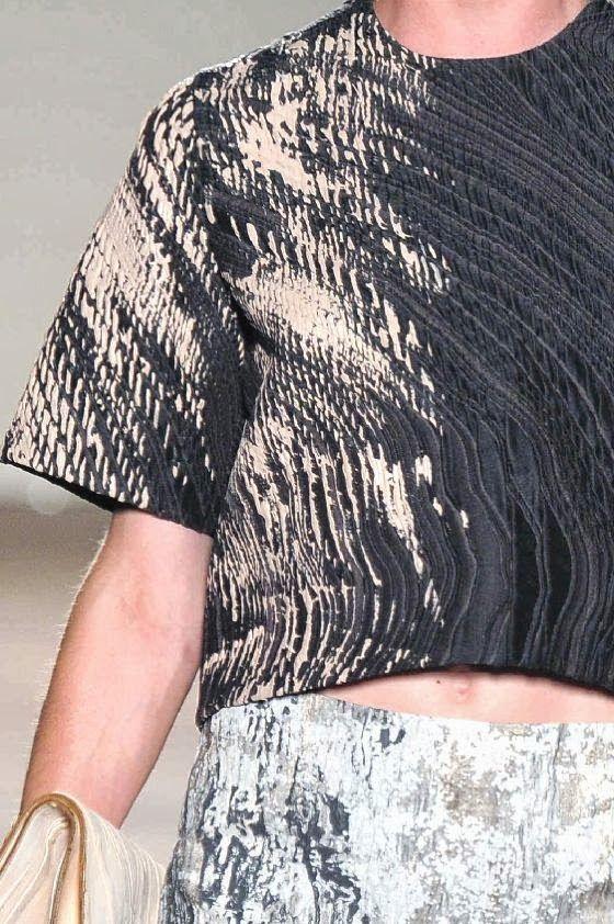 patternprints journal it: STAMPE, PATTERNS E DETTAGLI DALLA SETTIMANA DELLA MODA DI MILANO, COLLEZIONI DONNA P/E 2014 / Gabriele Colangelo