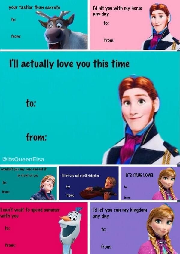 Frozen Valentines Day Cards Disney Pinterest Cards
