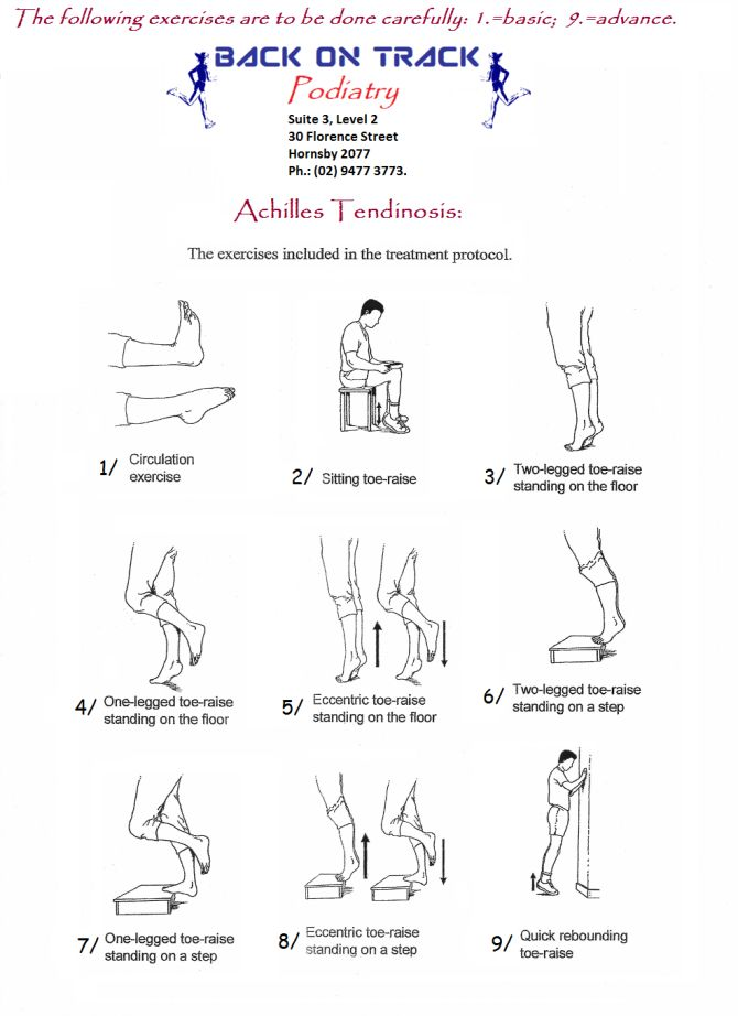 Achilles tendon exercises