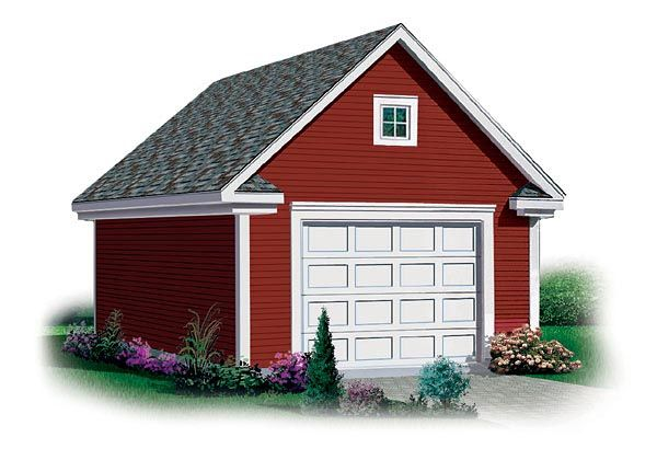 Simple Two Car Garage 92048vs: 27 Best Images About One Car Garage Plans On Pinterest