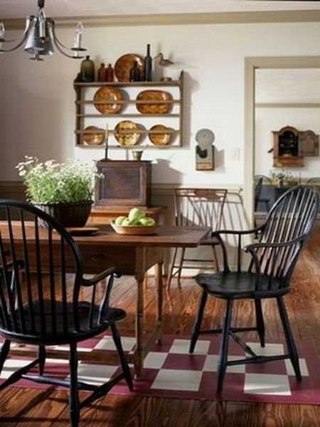 315 Best Primitive And Colonial Dining Rooms Images On