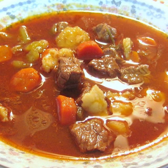 Hungarian Goulash Soup - try with Turkey or other Meatballs,  Chicken, or Pork
