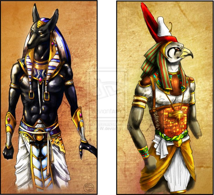 Anubis and Horus by Emilie-W