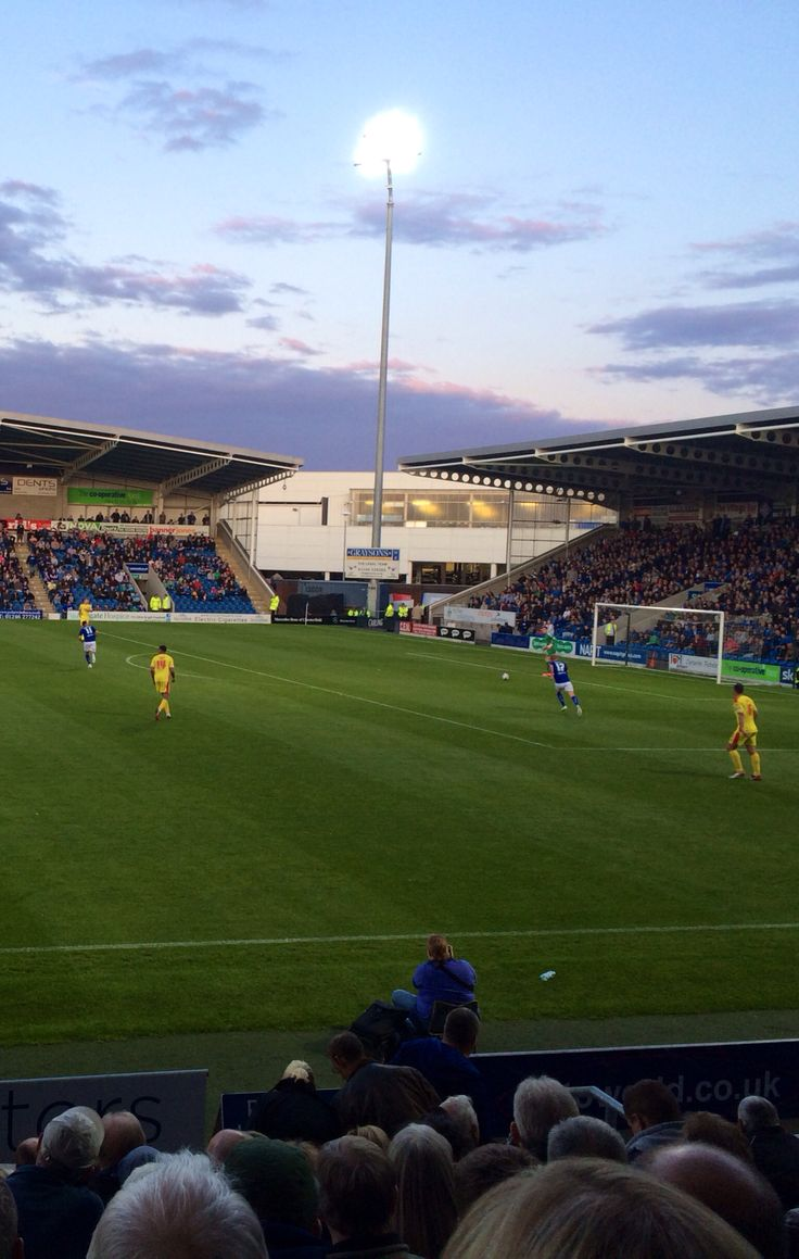 Chesterfieldfc v MK dons (19th Aug 14) #tgilly82