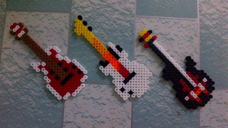 Guitars perler beads by Alex T.- Perler® | Gallery