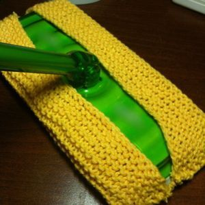This quick knit sweeper cover is a great alternative to the disposable cloths and pads. It can be used dry for dust and pet hair or wet for mopping.