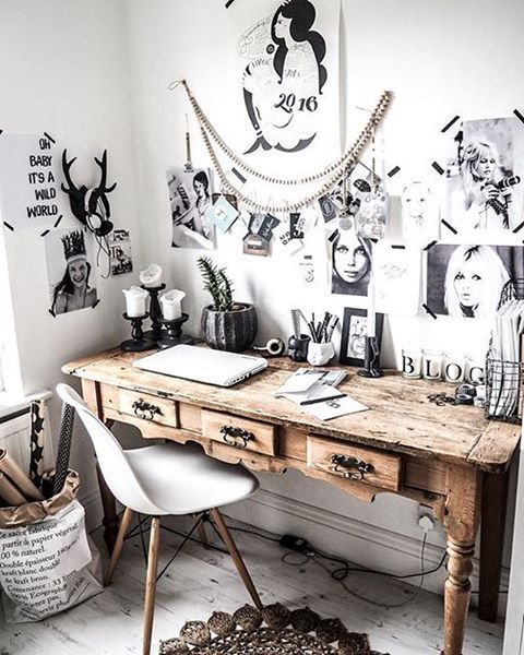 Obsessed with the dreamy office of @kateyoungdesign › via @workspacegoals on Instagram